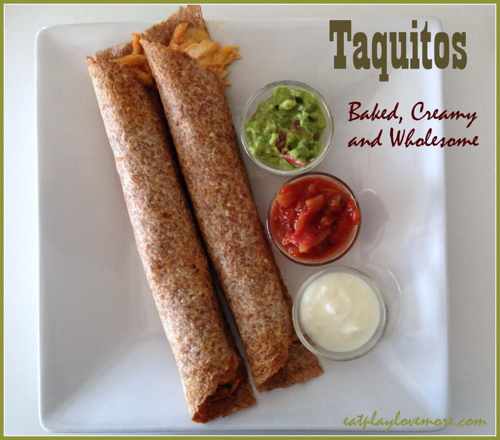 taquitos - baked, creamy and wholesome (GF)