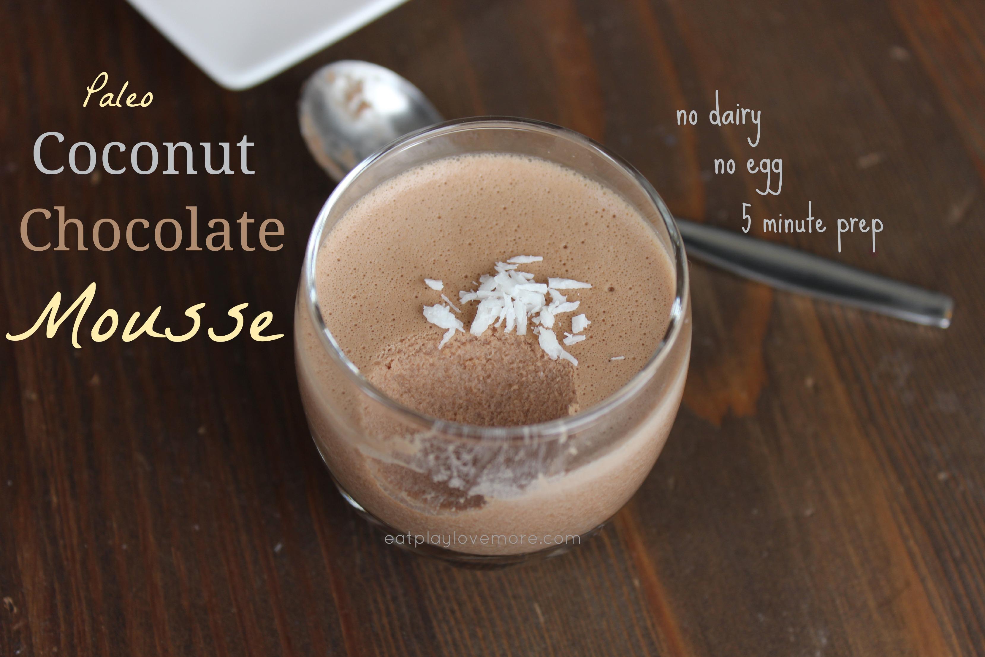 Coconut Chocolate Mousse Paleo & Primal friendly