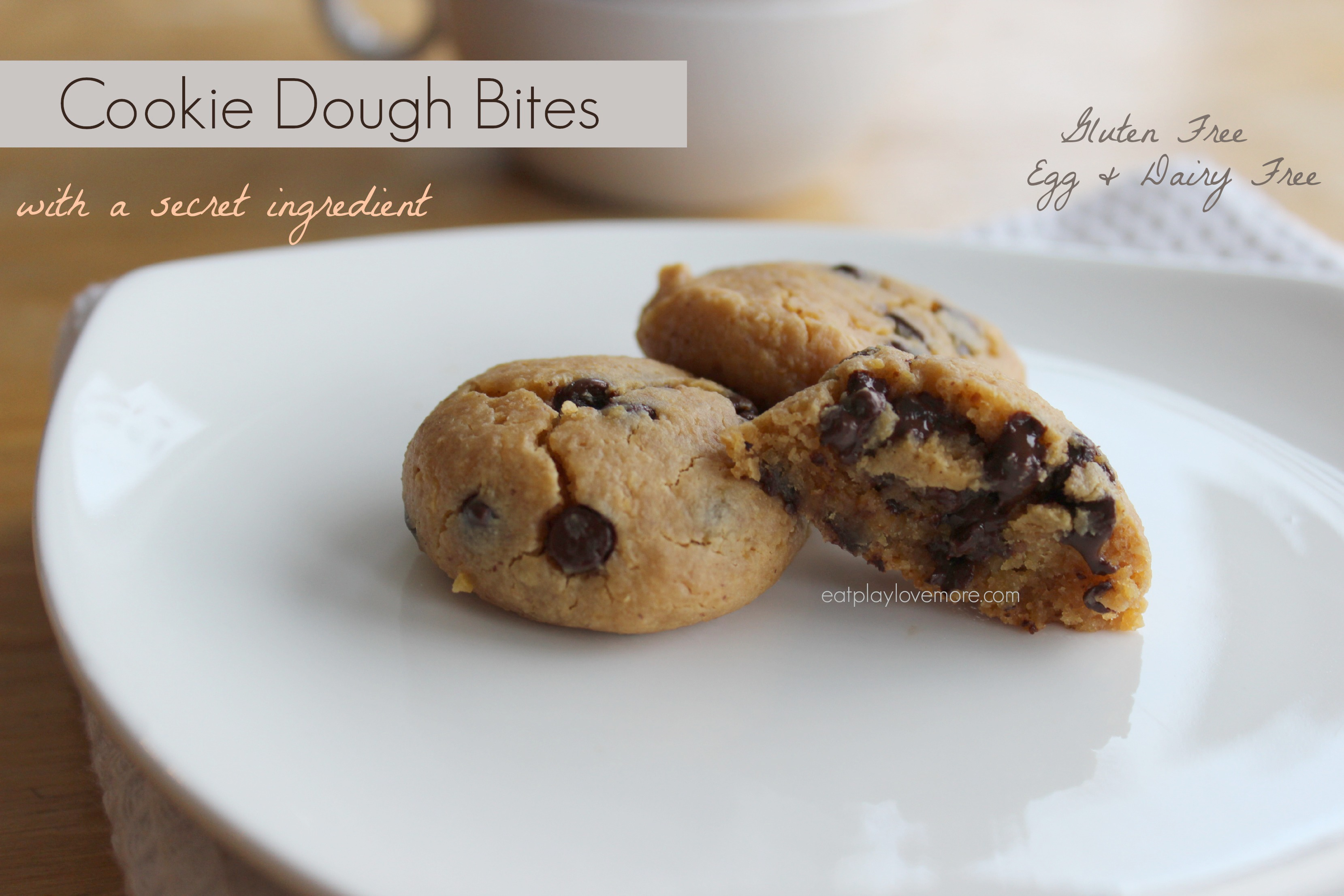 Cookie Dough Bites with a Secret Ingredient (V, GF)