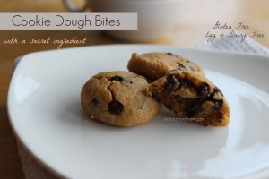 Cookie Dough Bites with a Secret Ingredient (V, GF)