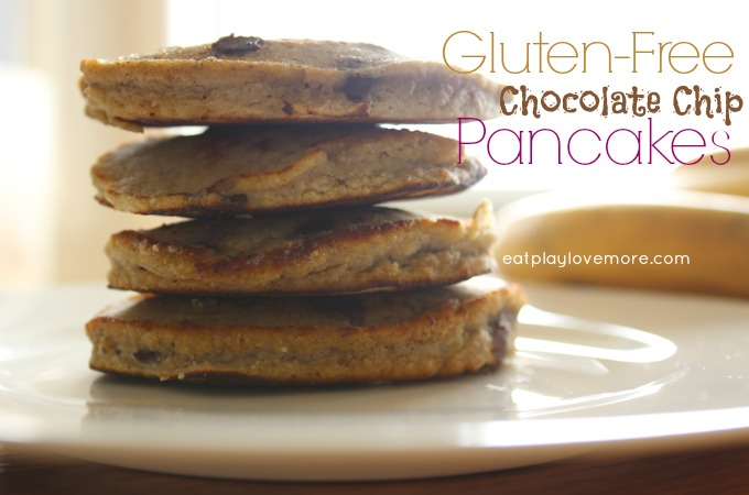 Best Ever Quick Gluten Free Chocolate Chip Pancakes
