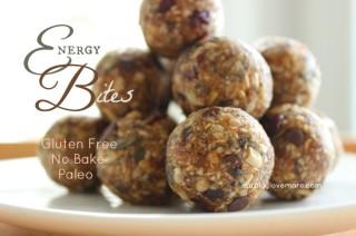 Easy, No-Bake Energy Bites! Grain Free and Paleo!